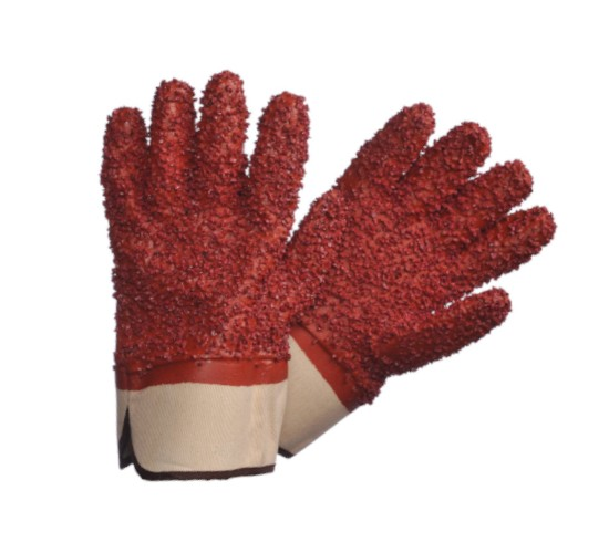 Sygma PVC Chip Coated Rough Surface glove with shortened Safety Cuff
